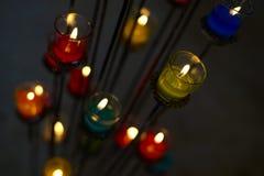 Ζωηρόχρωμο aromatherapy κερί Στοκ φωτογραφία με δικαίωμα ελεύθερης χρήσης