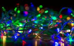 Ζωηρόχρωμο bokeh Abstratnoe των γιρλαντών Χριστουγέννων Στοκ φωτογραφία με δικαίωμα ελεύθερης χρήσης