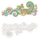 Ζωηρόχρωμο doodle Στοκ εικόνες με δικαίωμα ελεύθερης χρήσης