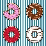 Ζωηρόχρωμο doughnut τέσσερα Στοκ φωτογραφίες με δικαίωμα ελεύθερης χρήσης