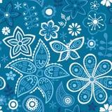 Ζωηρόχρωμο floral άνευ ραφής σχέδιο απεικόνιση αποθεμάτων