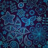 Ζωηρόχρωμο floral άνευ ραφής σχέδιο Στοκ Φωτογραφίες