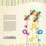 ζωηρόχρωμο floral διάνυσμα ανα&si διανυσματική απεικόνιση