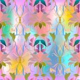 Ζωηρόχρωμο floral διανυσματικό άνευ ραφής σχέδιο κομψότητας απεικόνιση αποθεμάτων