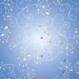 ζωηρόχρωμο floral πρότυπο άνευ ρ& ελεύθερη απεικόνιση δικαιώματος