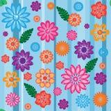 ζωηρόχρωμο floral πρότυπο άνευ ρ& Στοκ φωτογραφία με δικαίωμα ελεύθερης χρήσης