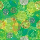 ζωηρόχρωμο floral πρότυπο άνευ ρ& Στοκ Φωτογραφία