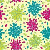 ζωηρόχρωμο floral πρότυπο άνευ ρ& Στοκ Εικόνες