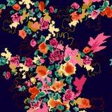 Ζωηρόχρωμο floral σχέδιο τυπωμένων υλών Στοκ Φωτογραφία