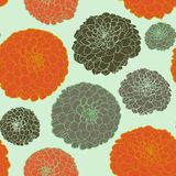 Ζωηρόχρωμο floral σχέδιο κρητιδογραφιών απεικόνιση αποθεμάτων