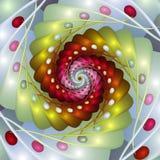 Ζωηρόχρωμο Fractal αυγών διανυσματική απεικόνιση