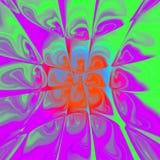 Ζωηρόχρωμο Fractal δακρυ'ων, πολύχρωμο υπόβαθρο στα ιώδη, κόκκινα, πράσινα, μπλε χρώματα διανυσματική απεικόνιση