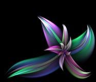 ζωηρόχρωμο fractal λουλουδιώ& Στοκ εικόνα με δικαίωμα ελεύθερης χρήσης