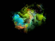 Ζωηρόχρωμο Fractal μόριο σύννεφων Στοκ εικόνα με δικαίωμα ελεύθερης χρήσης