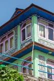 Ζωηρόχρωμο guesthouse Annapurna Στοκ Εικόνες