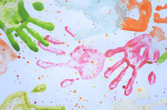 ζωηρόχρωμο handprint Στοκ Εικόνα