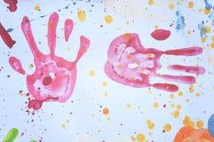 ζωηρόχρωμο handprint Στοκ φωτογραφίες με δικαίωμα ελεύθερης χρήσης