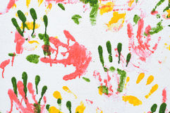 ζωηρόχρωμο handprint Στοκ φωτογραφία με δικαίωμα ελεύθερης χρήσης
