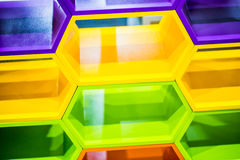 Ζωηρόχρωμο hexagon γεωμετρικό σχέδιο Στοκ Εικόνες