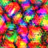Ζωηρόχρωμο hexagon πολύγωνο και άνευ ραφής υπόβαθρο ελεύθερη απεικόνιση δικαιώματος