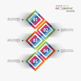 Ζωηρόχρωμο infographic πρότυπο 3d squares διάνυσμα Διανυσματική απεικόνιση
