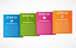 Ζωηρόχρωμο infographics τετραγώνων για τις επιχειρησιακές παρουσιάσεις σας ελεύθερη απεικόνιση δικαιώματος