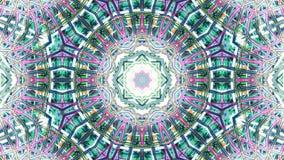 Ζωηρόχρωμο kaleidoscopic υπόβαθρο Kaleidoscopic loopable σχέδια απεικόνιση αποθεμάτων