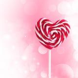 Ζωηρόχρωμο lollipop με μορφή της καρδιάς ελεύθερη απεικόνιση δικαιώματος