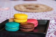 ζωηρόχρωμο macaron Στοκ Φωτογραφίες