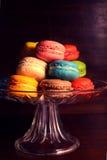 ζωηρόχρωμο macaroon μπισκότων στοκ εικόνες με δικαίωμα ελεύθερης χρήσης