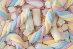 Ζωηρόχρωμο marshmallow στοκ φωτογραφίες
