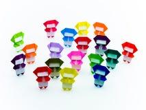 Ζωηρόχρωμο Origami Ninja Στοκ Εικόνες