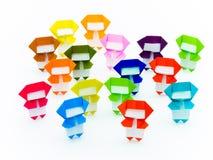 Ζωηρόχρωμο Origami Ninja Στοκ Εικόνα