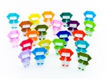 Ζωηρόχρωμο Origami Ninja Στοκ φωτογραφίες με δικαίωμα ελεύθερης χρήσης