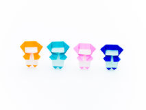 Ζωηρόχρωμο Origami Ninja Στοκ Φωτογραφίες