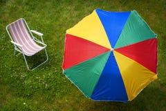 Ζωηρόχρωμο parasol και Στοκ Εικόνες