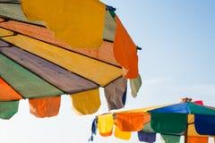 ζωηρόχρωμο parasol παραλιών Στοκ εικόνα με δικαίωμα ελεύθερης χρήσης