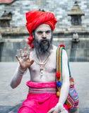 Ζωηρόχρωμο Sadhu στο ναό Pashupatinath Στοκ φωτογραφία με δικαίωμα ελεύθερης χρήσης