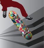 Ζωηρόχρωμο skateboard κινητήριο Στοκ εικόνες με δικαίωμα ελεύθερης χρήσης