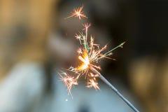Ζωηρόχρωμο sparkler Bokeh Sparkler Στοκ Εικόνες