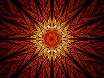 Ζωηρόχρωμο stained-glass ήλιων Στοκ Εικόνες