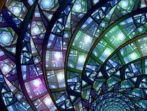 Ζωηρόχρωμο stained-glass διανυσματική απεικόνιση