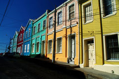 ζωηρόχρωμο valparaiso σπιτιών Στοκ εικόνα με δικαίωμα ελεύθερης χρήσης
