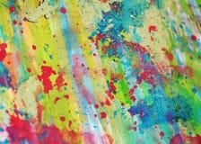 Ζωηρόχρωμο watercolor που χρωματίζει το αφηρημένα σχέδιο και το υπόβαθρο Στοκ φωτογραφίες με δικαίωμα ελεύθερης χρήσης