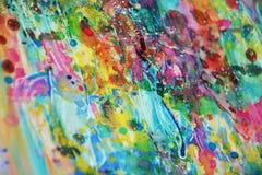 Ζωηρό λάσπης ζωηρόχρωμο θολωμένο χρυσό πτυχών ρόδινο κεριών χρώμα watercolor σημείων ζωηρό, ζωηρόχρωμα χρώματα Στοκ Εικόνα