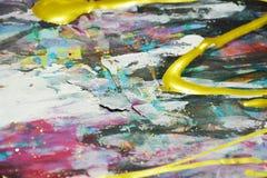 Ζωηρό λαμπιρίζοντας σκοτεινό ζωηρόχρωμο υπόβαθρο watercolor χρωμάτων, κτυπήματα βουρτσών, οργανικό υπνωτικό υπόβαθρο Στοκ φωτογραφίες με δικαίωμα ελεύθερης χρήσης