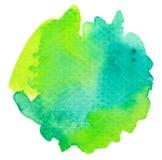 Ζωηρό πράσινο υπόβαθρο watercolor Στοκ Εικόνες