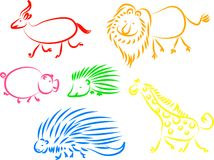ζωικά εικονίδια διανυσματική απεικόνιση