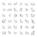 Ζωικά εικονίδια Εικονίδια ζωολογικών κήπων Ζώα στοκ εικόνες με δικαίωμα ελεύθερης χρήσης