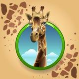 ζωικές giraffe κινούμενων σχεδίων άγρια περιοχές θηλαστικών διανυσματική απεικόνιση